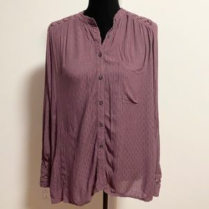 Free People plum hollowed back top size M